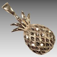 Vintage 14K Gold Hawaiian Pineapple Pendant