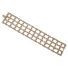 Elegant Swarovski Rhinestone Gold Plated Bracelet Swan Logo