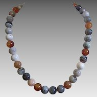 Botswana Agate Beaded Necklace
