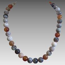 Botswana Agate Beaded Necklace