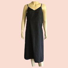 Vintage Black Rayon Taffeta Full Slip