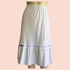 Vintage 1970's Nylon Pin-Strip Half Slip By Henson Kickernick S