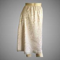 Vintage Eve Stillman Beige Half Slip S