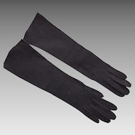 Vintage Black Suede Gloves Made In France For Stern Brothers