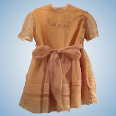 Vintage Child / Doll Fancy Party Dress Silk & Cotton
