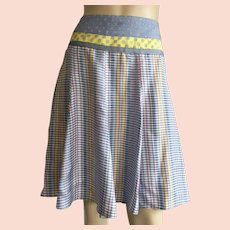 Etro Silk Skirt Made In Italy Size 44