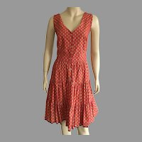 French Red & Yellow Sun Dress From Provence NWT