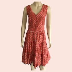 REDUCED French Red & Yellow Sun Dress From Provence NWT