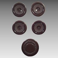 Group Of Vintage Brown Coat Buttons