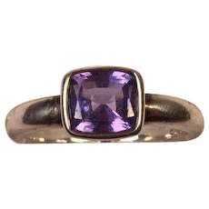 Tanzanite & Sterling Silver Ring