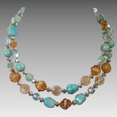 Vintage Hattie Carnegie Double Strand Beaded Necklace