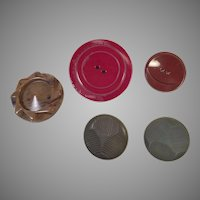 Group Of Vintage Plastic Coat Buttons