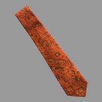 REDUCED Vintage Hand Made Thai Silk Necktie Tie