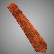 Vintage Hand Made Thai Silk Necktie Tie