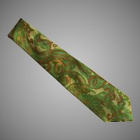 Vintage Thai Silk Tie Necktie Made In Thailand
