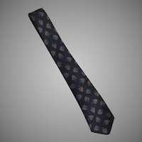 Vintage 1960's Wool Necktie Tie Prestwick & Metcalf Shield Design