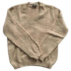Men's Vintage 100% Alpaca Sweater Made In Peru