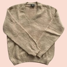 Men's Vintage 100% Alpaca Sweater Made In Peru
