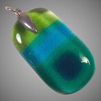 Vintage Modernist Glass Pendant Four Colors