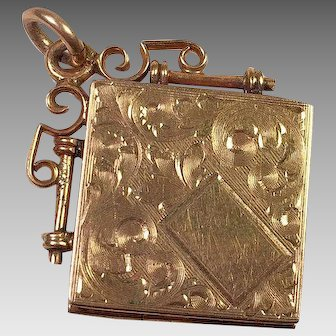 Victorian Gold-Filled Etched Locket Or FOB