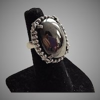 Whiting & Davis Hematite Ring Size 7