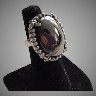 Whiting & David Hematite Ring Size 7