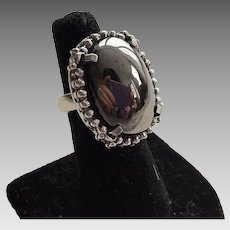 Whiting & David Hematite Ring Size 7