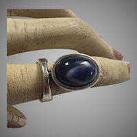 Vintage Modernist Joachim S'Paliu Sterling Sodalite Ring