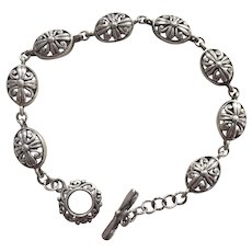 Vintage Sterling Filigree Bracelet
