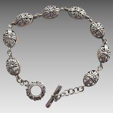 Vintage Sterling Filigree Bracelet