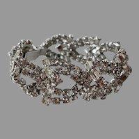 REDUCED Vintage Elegant Chunky Clear Rhinestone Bracelet