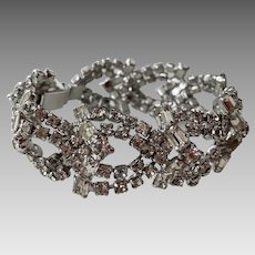 Vintage Elegant Chunky Clear Rhinestone Bracelet