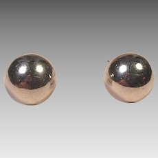 Tiffany Sterling Silver & 14K White Gold Large Stud Earrings