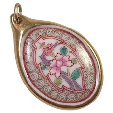 Herend Hand Painted Porcelain Pendant