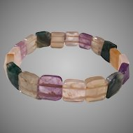 Fluorite Gemstone Stretchy Bracelet