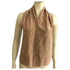 Vintage 1960's Silk Gucci Oblong Jacquard Pattern Scarf