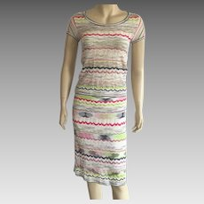 Vintage Missoni Knit Skirt & Top Set Made In Italy Size 4