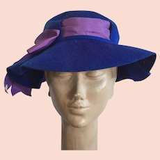 3e40f0a1207 Felt Hat from Sylvia, New York / St. Louis : Manderly Estates | Ruby ...