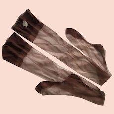 Vintage 1940's Belle Sharmeer Stockings With Seams 9 1/2