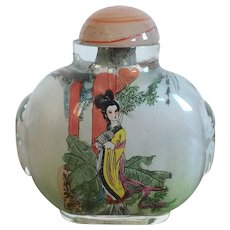 Chinese Reverse Painted Glass Perfume Bottle