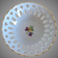 Weimar Porcelain Lattice Work Trinket Dish