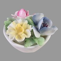 REDUCED Royal Doulton Small Bowl Of Flowers Figurine