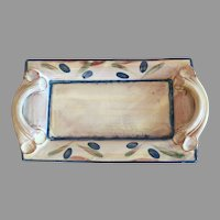 Hand Painted French Terracotta Handled Tray From Provence