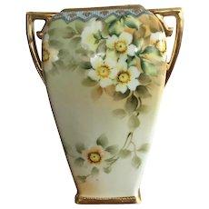 Vintage Hand Painted Floral Design Nippon Vase