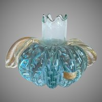 Seguso Italian Murano Glass Candle Holder