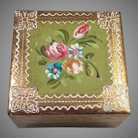 Italian Florentine Hand Painted Trinket Box