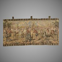 Antique Tapestry Wall Hanging Venetian Scene