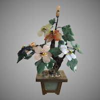 Chinese Jade & Hardstone Flowering Tree