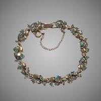 Hollycraft Aurora Borealis Rhinestone Bracelet 1957