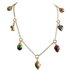 Joan Rivers Goldtone & Enamel Egg Charm Necklace
